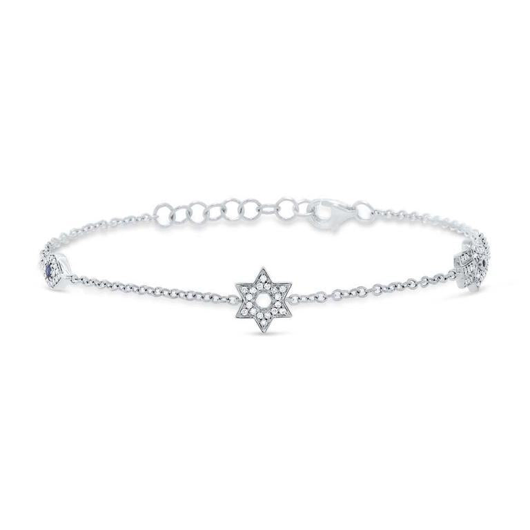 Diamond Star of David Bracelet