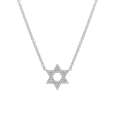 Diamond Star of David Necklace