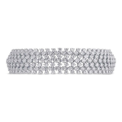 18K White Gold Diamond Tennis Bracelet
