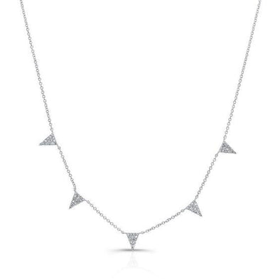Diamond Triangle Station Necklace