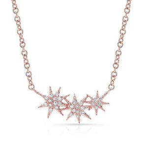 Diamond Triple Star Necklace