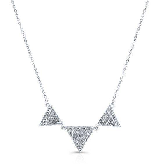 Diamond Triple Triangle Necklace