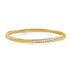 "14K Yellow Gold Diamond ""Twist"" Bangle"
