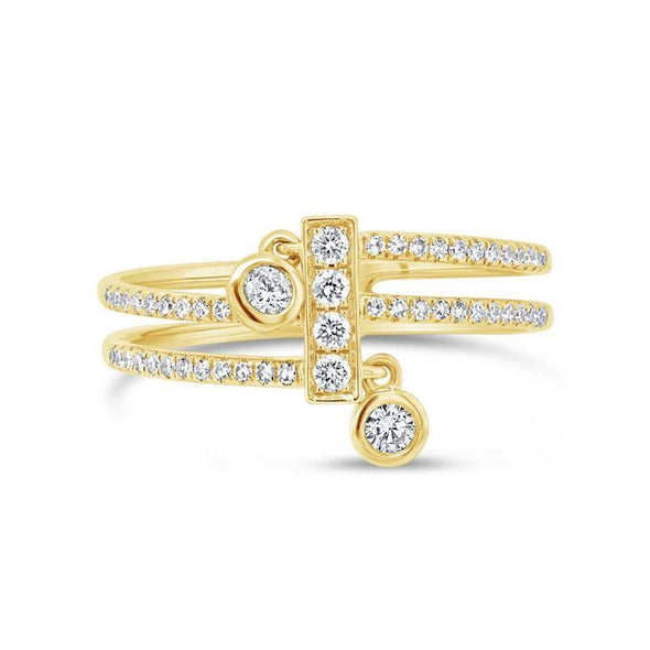 Diamond Wrap Bezel Charm Ring