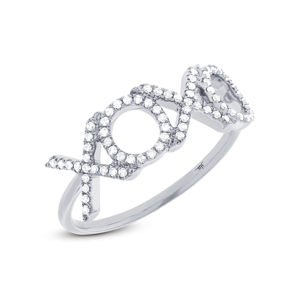 "Diamond ""XOXO"" Ring"