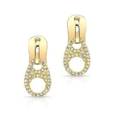 14K Diamond Zipper Earrings