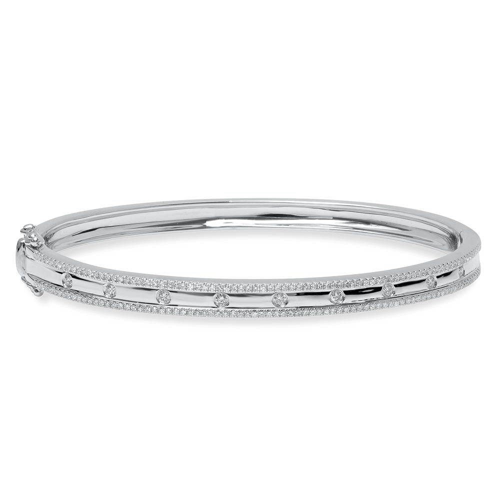 Double Diamond Border Bangle