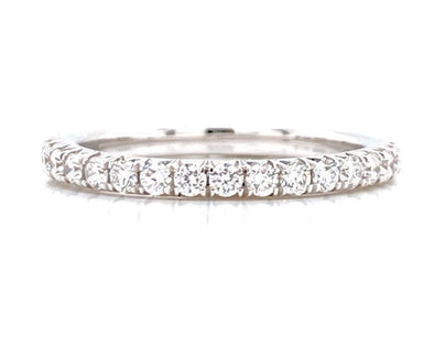 14K White 0.80ct Diamond French Cut Eternity Band
