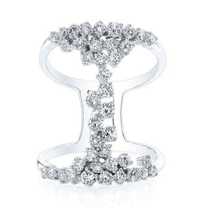 14K White Gold Floating Diamond Ring