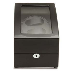 Rotations High Gloss Black Finish 2-Watch Winder