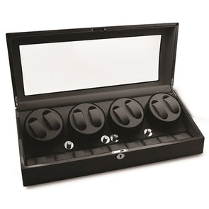 Rotations High Gloss Black Finish 8-Watch Winder