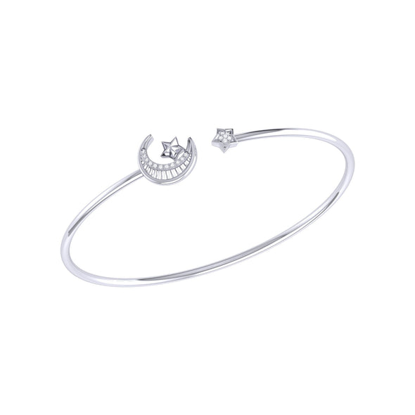 Starkissed Crescent Cuff in Sterling Silver