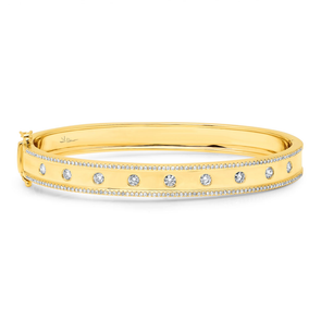 "High Polished Diamond ""Lights"" Bangle"