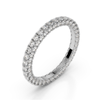 18K White Gold Diamond Seamless Eternity Band