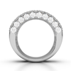 18K 4.95Ct Diamond Thick Seamless Band