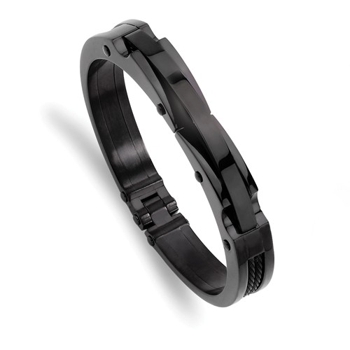 Stainless Steel Black Plated Bangle