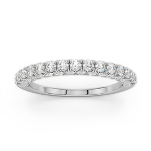 18K White Gold 1.42Ct Round Diamond Seamless Collection
