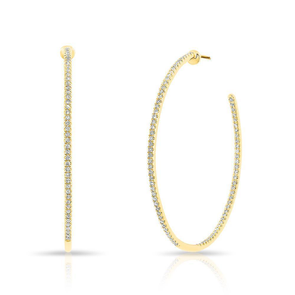Inside & Outside Diamond Hoop Earring