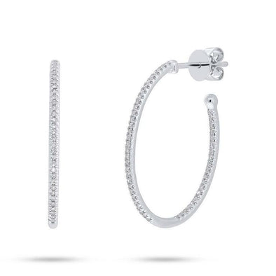 Inside & Outside Diamond Small Oval Hoops