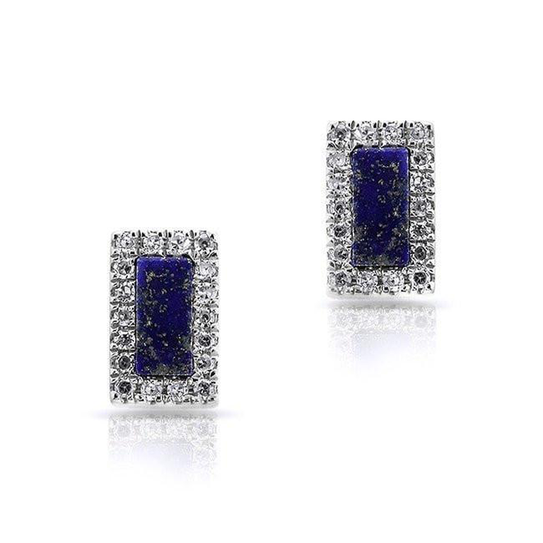 16ede24fb Lapis Rectangle Stud Earrings – Maurice's Jewelers