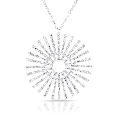 Large Diamond Sunburst Necklace