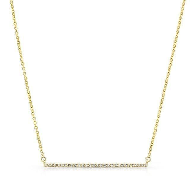 Light Diamond Bar Necklace