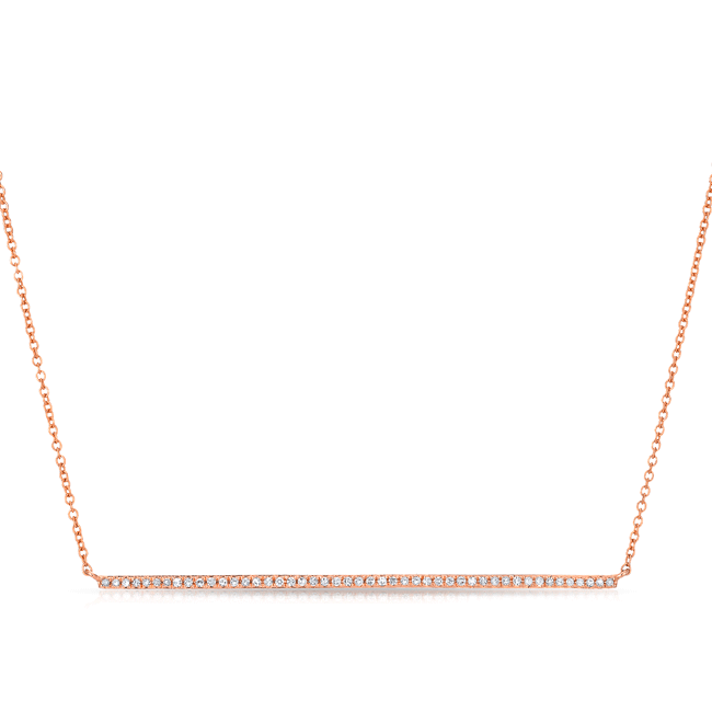 Light Luxe Diamond Bar Necklace