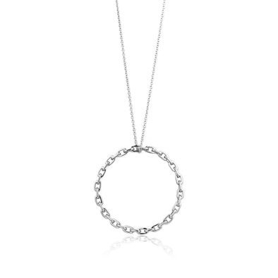 Links Circle Pendant Necklace