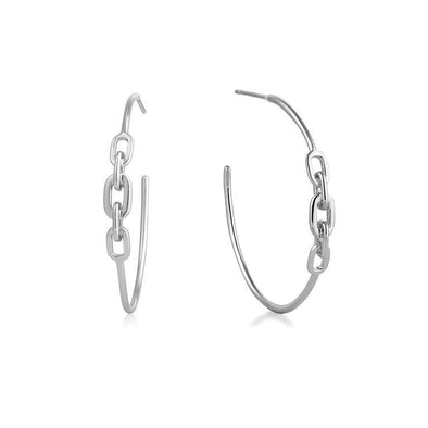 Links Hoops Earrings