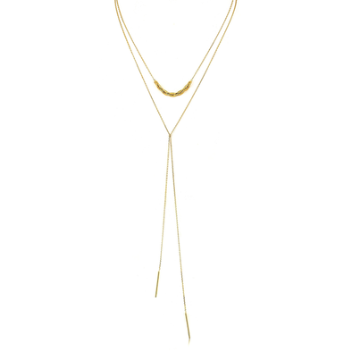 Links Lariat Necklace