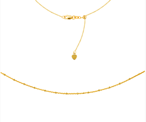 14K Yellow Gold Saturn Chain Choker