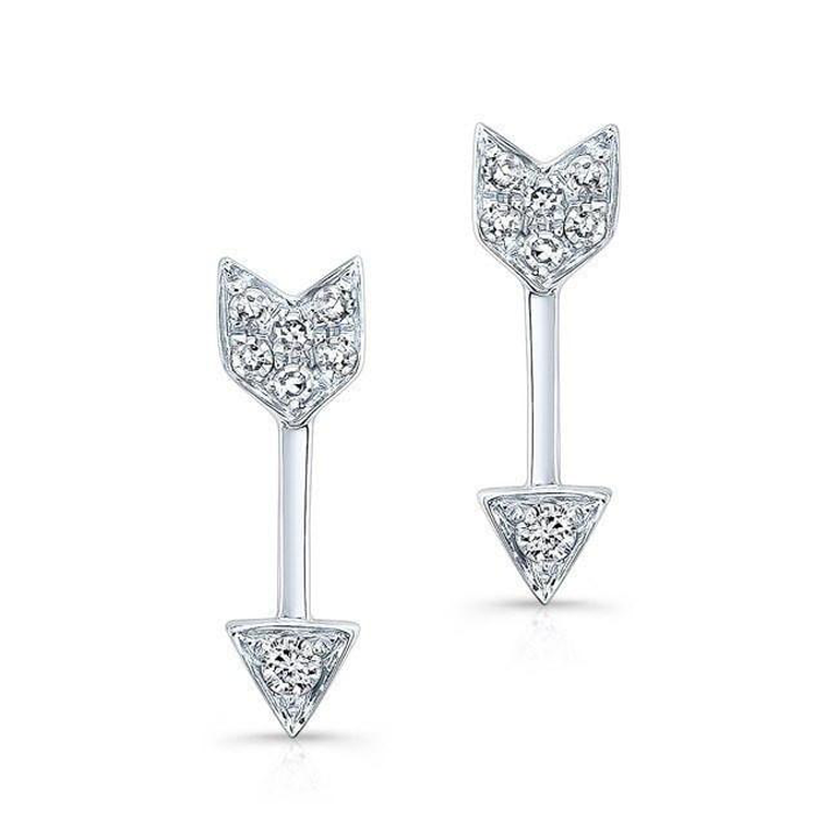 Mini Diamond Arrow Stud Earrings