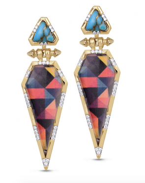 Mosaic Diamond Fearless Earrings