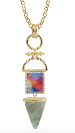 Mosaic Splashy Flashy Necklace