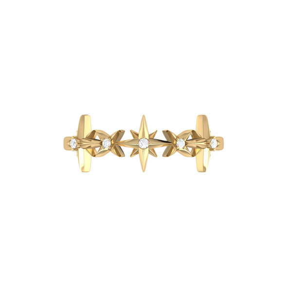 Starry Lane Ring in 14 KT Yellow Gold Vermeil on Sterling Silver