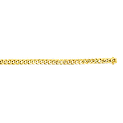 "26"" 14K Yellow Gold 6.65Mm Semi-Solid New Miami Cuban Link Necklace"