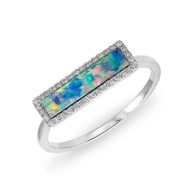 Opal Rectangle Ring