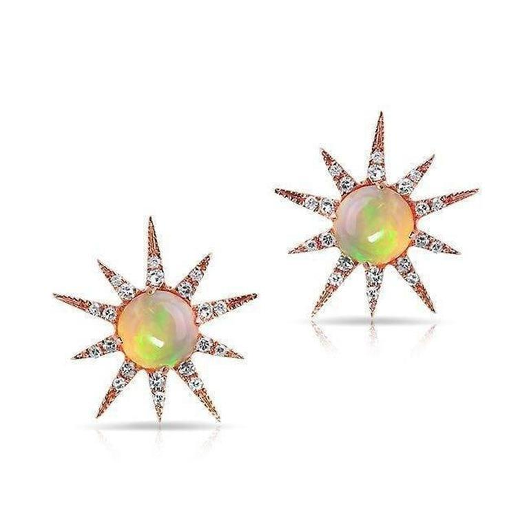 Opal Starburst Earrings