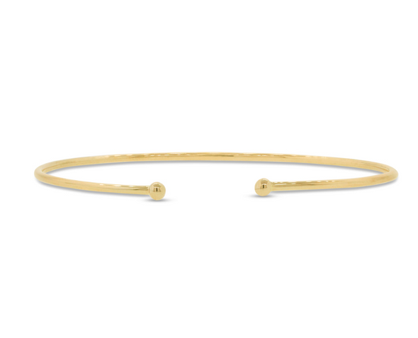 14K Rose Gold Open Stackable Diamond Bangle