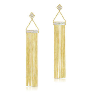 Pave Diamond Tassel Earrings