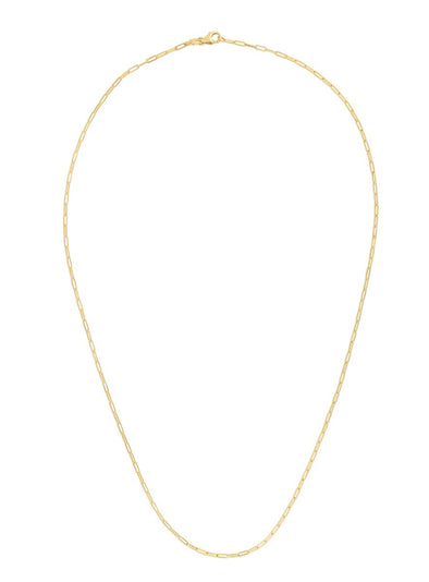 14k Yellow Gold 1.5mm Polished Paperclip Chain Necklace