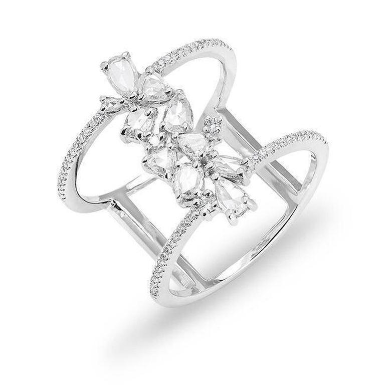 Pear Shaped Diamond Double Ring