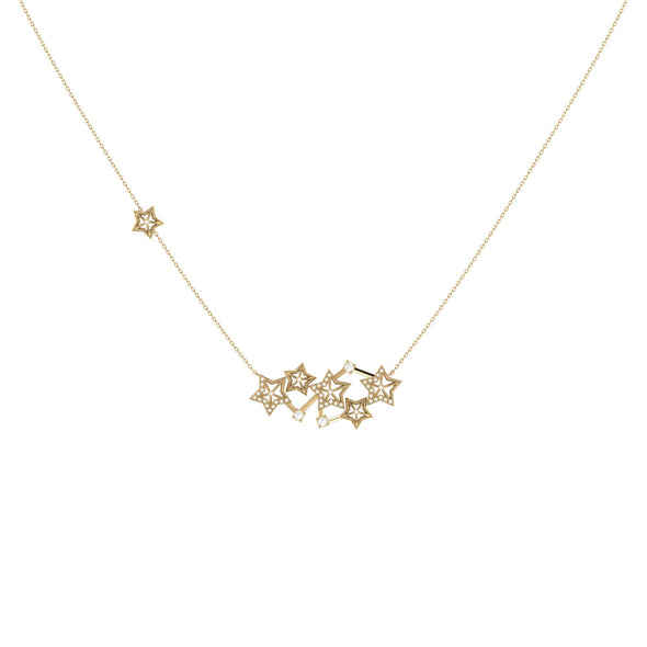 Starburst Constellation Necklace in 14 KT Yellow Gold Vermeil on Sterling Silver