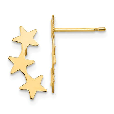 Children's Shooting Star Ear Climbers