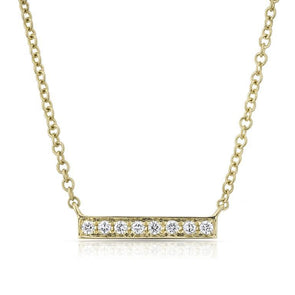 Short Diamond Bar Necklace
