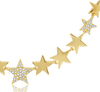 14K Yellow Gold Diamond Pave Star Necklace