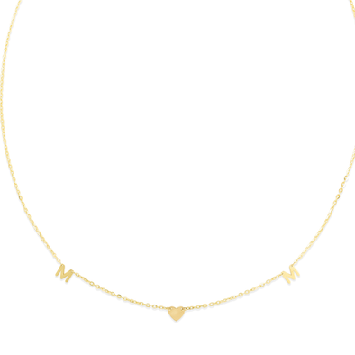 "14K Yellow ""MOM"" Necklace"