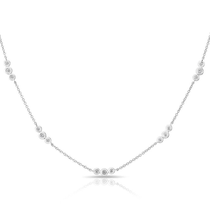 Triple Diamond By The Yard Necklace