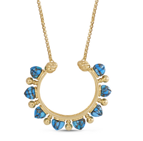 Turquoise Circle Of Fire Necklace