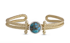 Turquoise Golden Rays Cuff
